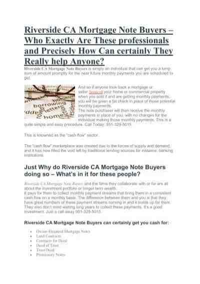 Is buying mortgage notes a good investment?